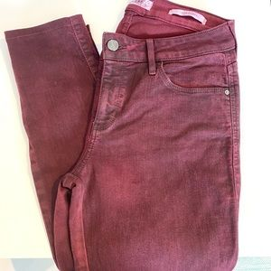 Guess | washed out burgundy sexy curve jeans